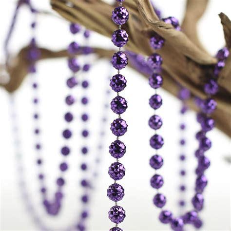purple beaded garland metallic purple faceted bead garland pearl spools bead garlands wedding decorations