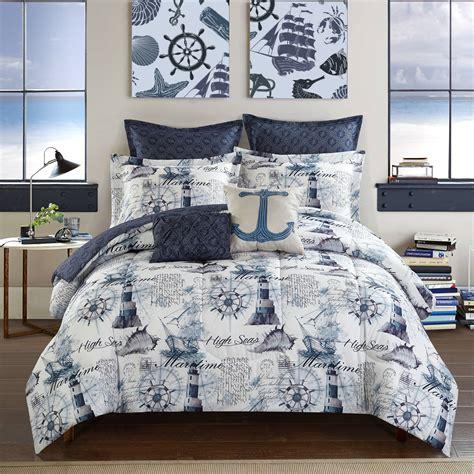 nautical quilt sets nautical navy blue comforter set size 7 pc reversible