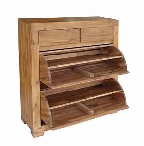 Meuble Chaussure Haut : meuble pour chaussures en bois ~ Teatrodelosmanantiales.com Idées de Décoration