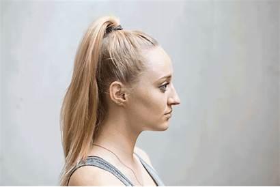 Hair Bun Knot Hairstyles Ponytail Head Tight