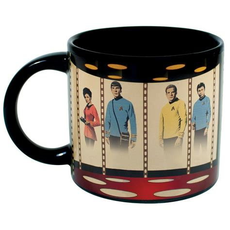 When filled with hot liquid, wake up. STAR TREK Mug Heat Activated Transporter Room Coffee ...