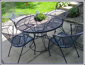 White outdoor wrought iron patio furniture patios home for White iron outdoor furniture
