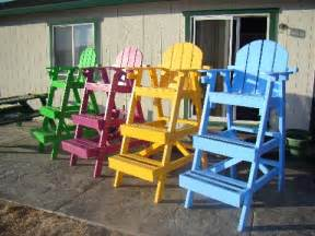 gonecoastal lifeguard chair plans and kits handpainted