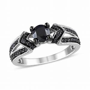 1 ct tw enhanced black diamond engagement ring in With zales black diamond wedding rings