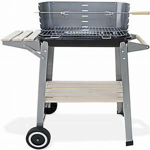Barbecue De Jardin : barbecue mobile 55x35cm bbq avec roues grill plan de ~ Premium-room.com Idées de Décoration