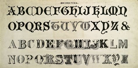 15 vintage typography fonts and flourishes free public domain images
