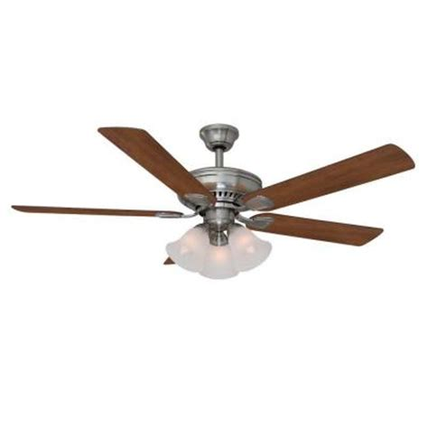 home depot ceiling fans with remote hton bay cbell 52 quot lighted ceiling fan w remote only