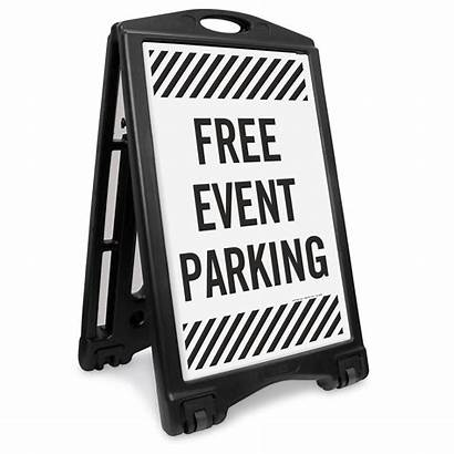 Parking Event Sidewalk 1219 Roll Portable Frame