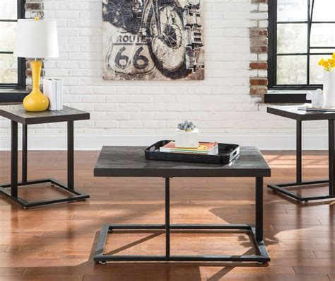 Make sure there's a beautiful and convenient spot in your living room for you and your guests to set down drinks. Signature Design By Ashley Airdon Bronze 3-Piece Occasional Table Set - Big Lots   Living room ...