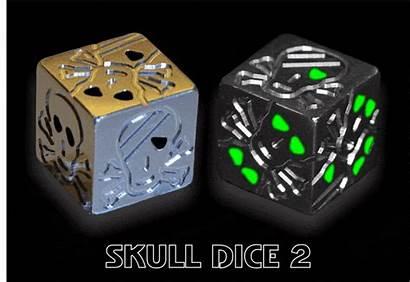 Dice Skull 3d Exclusive Metal Cubes Paint