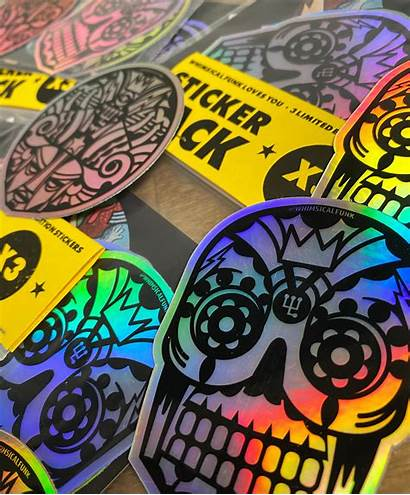 Holographic Sticker Vinyl Pack Square Stickers Limited