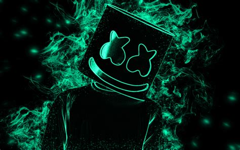 4k Resolution Neon Marshmello Wallpaper 3d by Wallpapers Marshmello 4k American Dj Producer