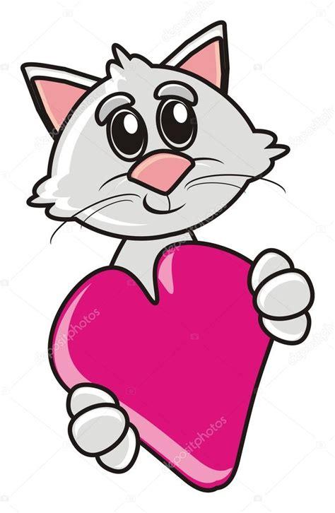 gato gatito animal pet dibujos animados coraz 243 n sentimientos 14 de febrero regalo