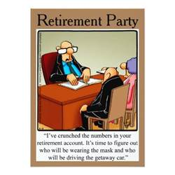 Funny Retirement Party Invitations