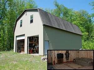 rolling acres adjoiningg state land with barn and living With 32x48 pole barn