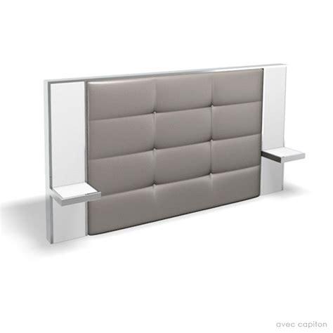 tete de lit avec table de chevet integre 3 pin t234te