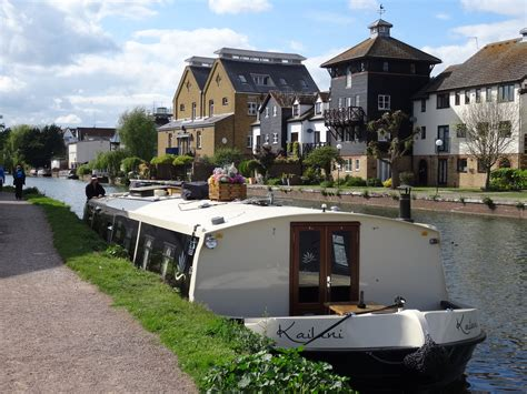 Boat Mooring Hertfordshire by Ware On The River Navigation