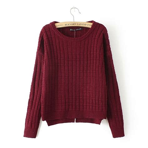 womens sweaters omine 39 s boat neck split high low cropped sweaters