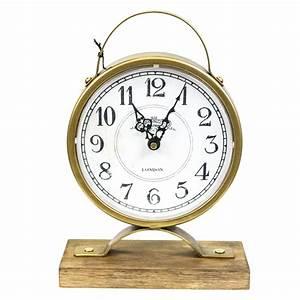 Sagebrook, Home, Gold, Metal, Table, Clock