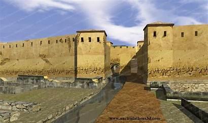 Ancient Athens Gate Greece Walls Wall Gates