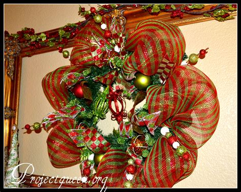 Mesh Christmas Wreath Tutorial (re-posted From Last Year