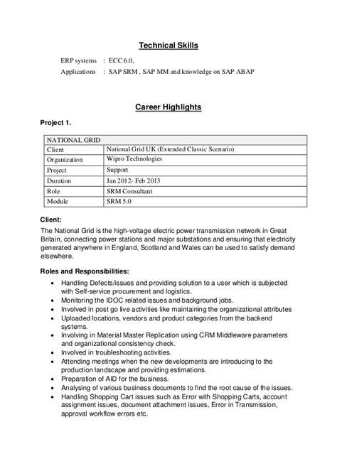 Sap Abap Srm Resume by Resume Mohammed Basheer Ahmed