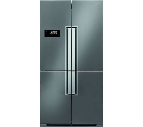 Buy HOTPOINT Quattro HPSN 4T Fridge Freezer   Silver Inox