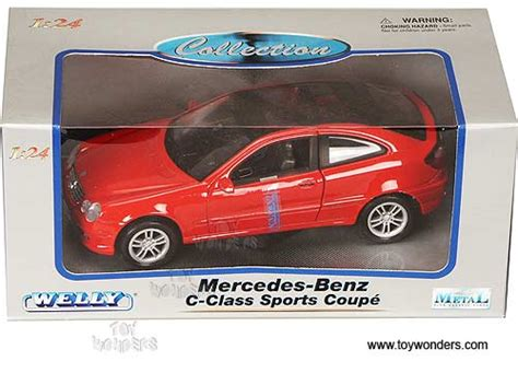 Adults in the real thing, not so much. mercedes benz C Class Sports Coupe by Welly 1/24 scale diecast model car wholesale 2425R