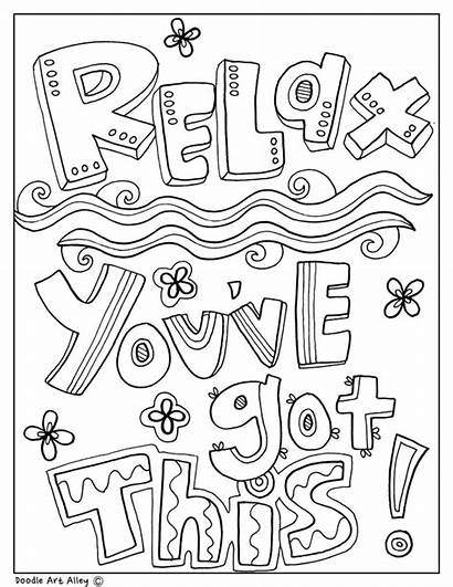 Coloring Pages Quotes Classroom Printable Educational Quote