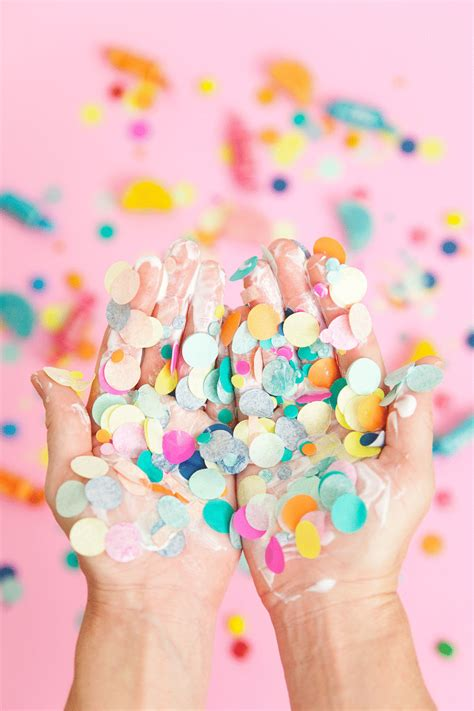 diy confetti candy bowls  love  party