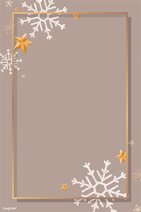 2020的Download premium vector of Gold frame with snowflake