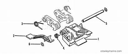 Shallow Water Tilt Parts Mercury Kit Thru