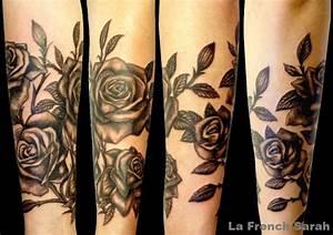 Rose En Tatouage : manchette en rosier rose sleeve roses tattoo manchette femme tatouage femme tatouage rose ~ Farleysfitness.com Idées de Décoration