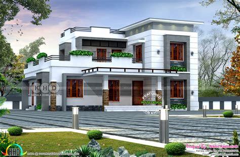 modern flat roof home by nikhil raghunath