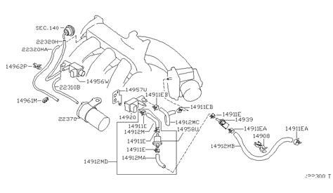 Nissan Cube Engine Diagram by 14912 7y100 Genuine Nissan 149127y100 Hose Evapo