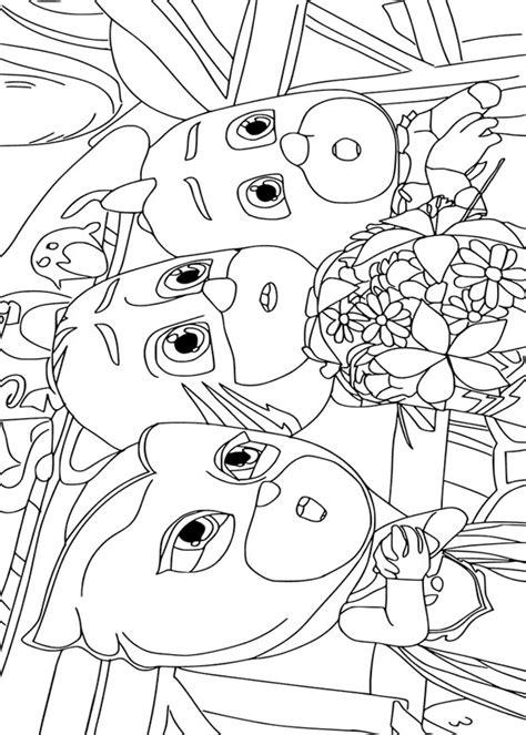 disegni da colorare per bambini pigiamini 30 disegni dei pj masks pigiamini da colorare