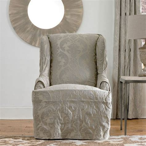 diy chair slipcover wingback chair slipcover diy