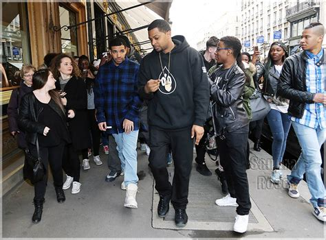 Drake Shopping At Cartier's In Paris