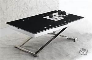 Table De Salon Modulable : table basse design relevable extensible cosmo noir offre val de marne 94310 orly 449 ~ Teatrodelosmanantiales.com Idées de Décoration