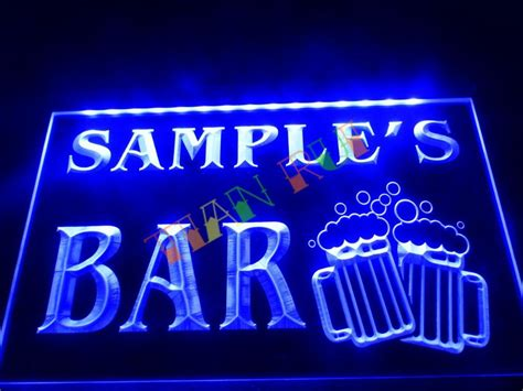 neon signs for home decor dz028 name personalized custom home bar mugs cheers