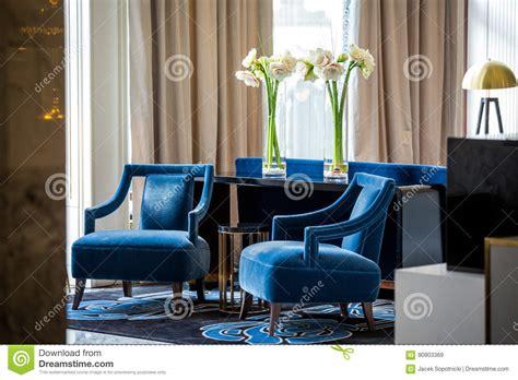 Poltrone Eleganti Dei Blu Navy Immagine Stock