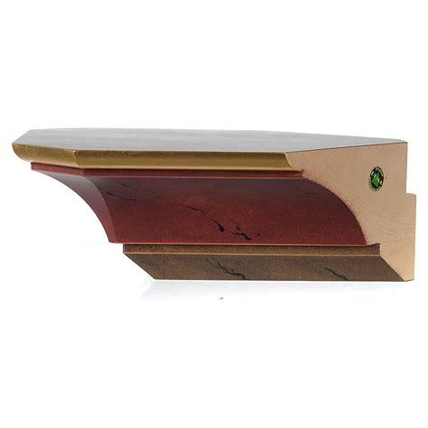 mensola angolo mensola per angolo per statue in legno dipinto vendita