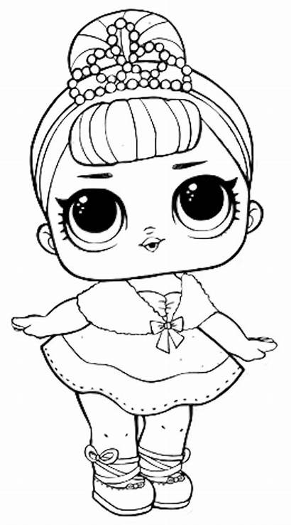 Lol Dolls Coloring Doll Pages Surprise Ball