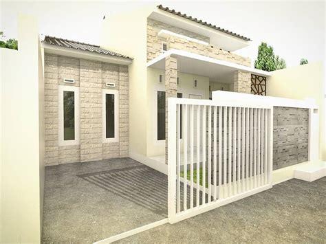 model pagar rumah type desain rumah minimalis