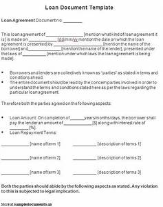 free printable personal loan agreement form generic With real estate loan documents