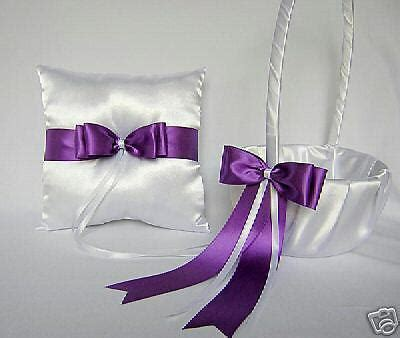 wedding accessories purple flower basket ring bearer pillow your colors ebay