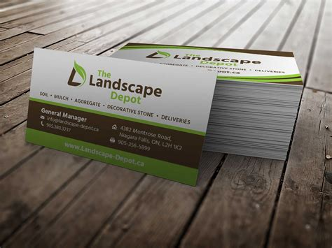 landscape design business card slim image company idolza