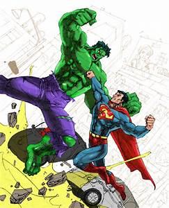 superman vs hulk by jnano on DeviantArt