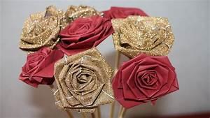 Comment Faire Des Roses En Papier : diy comment faire des roses en papier facile youtube ~ Melissatoandfro.com Idées de Décoration