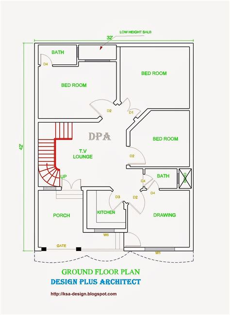 bed room house plan with stairs collection modern home 2d drawing floor plan featuring 3 bedrooms